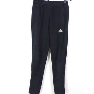 Adidas Kids Unisex Track Pants Black Elastic Waist